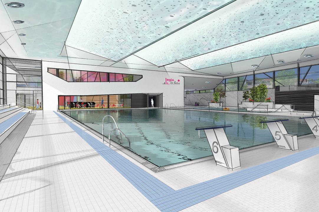 Gros plan sur les piscines de li ge willy demeyer - Horaire piscine olympique ...